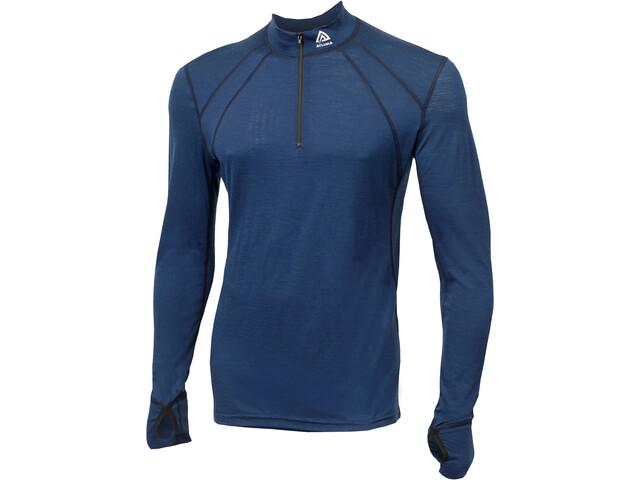 Aclima LightWool Zip Shirt Herren insignia blue